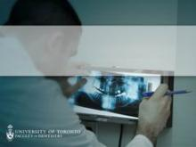 Powerpoint templates university of toronto faculty of dentistry radiology image of dentist examining panoramic radiograph pronofoot35fo Images
